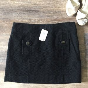 Banana Republic Black Button Mini Skirt New Sz 10